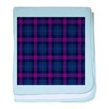purple tartan baby blanket