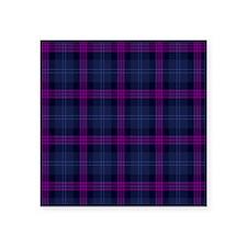 """purple tartan Square Sticker 3"""" x 3"""""""