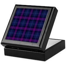purple tartan Keepsake Box