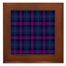 purple tartan Framed Tile