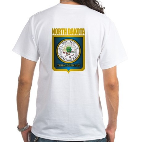 North Dakota Seal (B) White T-Shirt