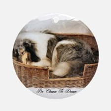 Collie Gifts of Art Ornament (Round)