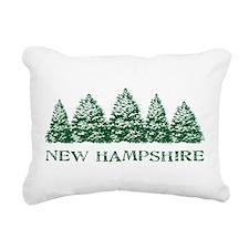 NH Winter Evergreens Rectangular Canvas Pillow