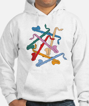 Colorful Bass Clarinets Hoodie