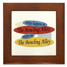 Happens At The Bowling Alley Framed Tile
