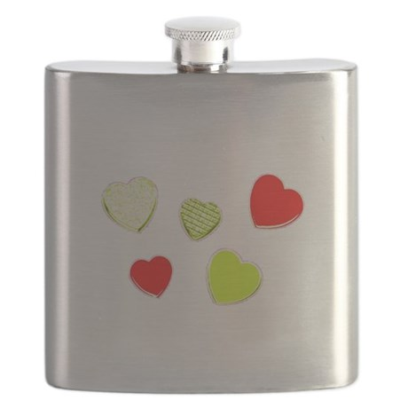 Valentines Day Heart Hurray Dance Designer Flask