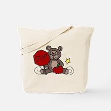 Crossing Guard Bear Tote Bag