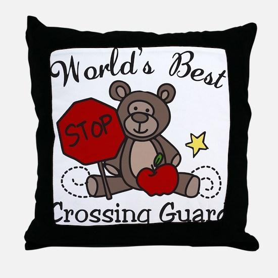 Crossing Guard Throw Pillow