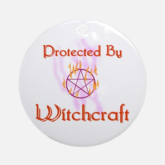 Protected By Witchcraft Ornament (Round)
