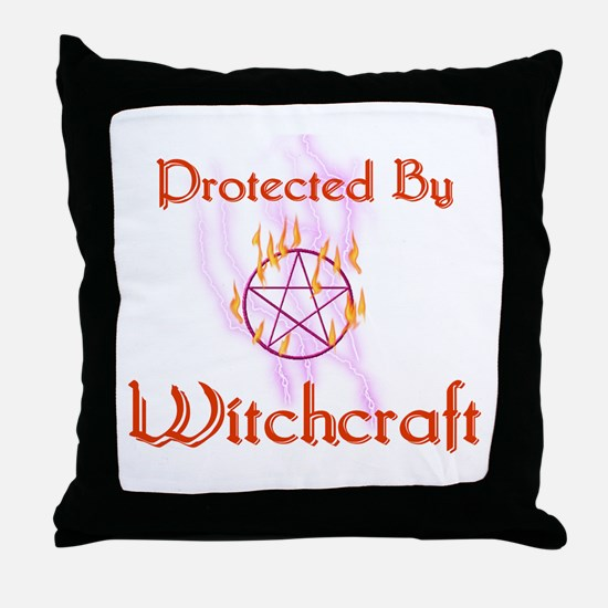 Protected By Witchcraft Throw Pillow