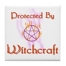 Protected By Witchcraft Tile Coaster