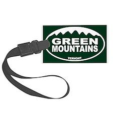 Green Mountains Luggage Tag