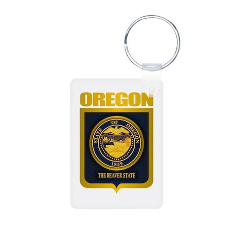 Oregon State Seal (B) Aluminum Photo Keychain