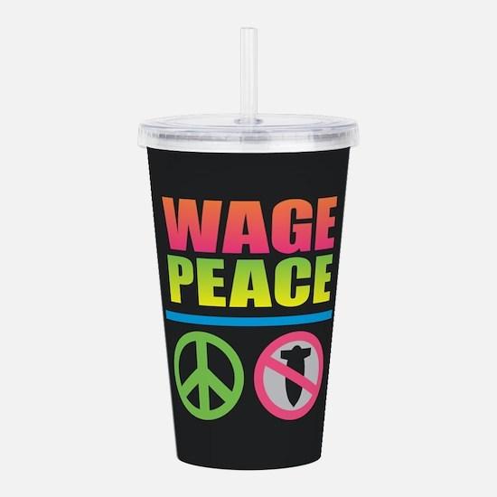 Wage Peace Rainbow Acrylic Double-wall Tumbler
