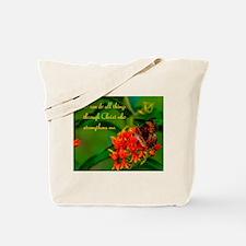 All Things Through Christ Tote Bag