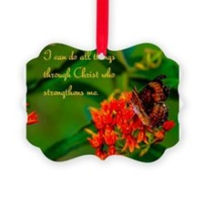 All Things Through Christ Picture Ornament
