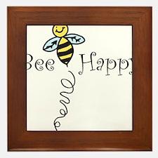 Bee Happy Framed Tile
