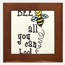 All You Can Bee Framed Tile