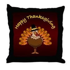 Happy Thanksgiving - Throw Pillow