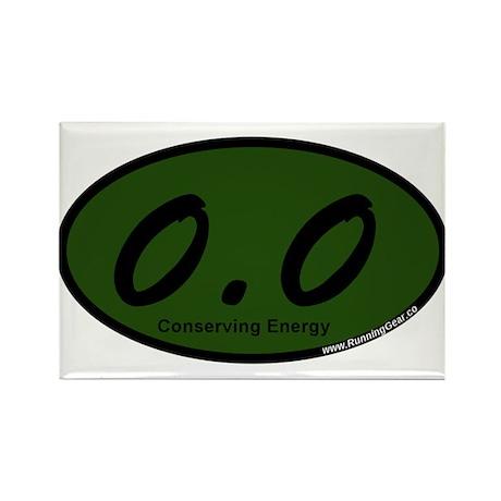 Green Zero Point Zer Rectangle Magnet