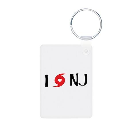 I LOVE NJ Aluminum Photo Keychain