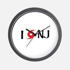 I LOVE NJ Wall Clock