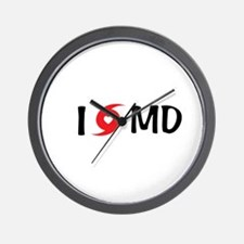 I LOVE MD Wall Clock