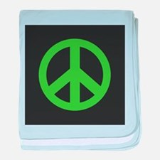 Peace Symbol Green baby blanket