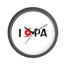 I LOVE PA Wall Clock