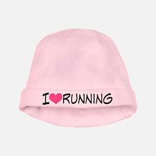 I Heart Running baby hat