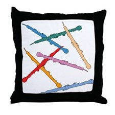 Colorful English Horns Throw Pillow