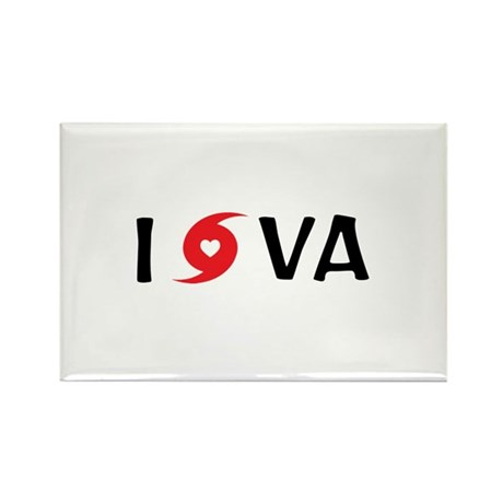 I LOVE VA Rectangle Magnet (10 pack)