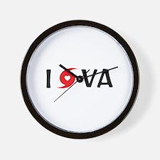 I LOVE VA Wall Clock