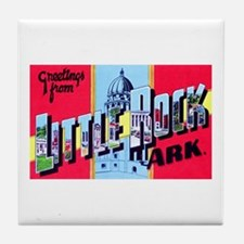 Little Rock Arkansas Greetings Tile Coaster