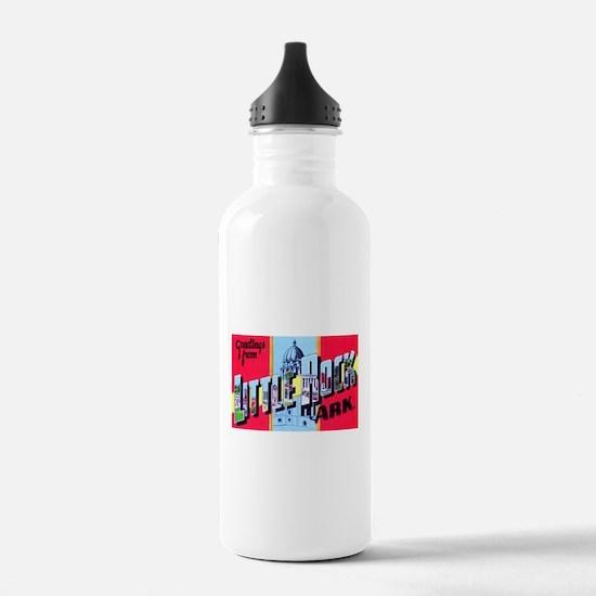 Little Rock Arkansas Greetings Water Bottle