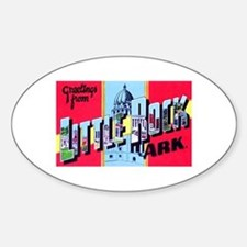 Little Rock Arkansas Greetings Sticker (Oval)