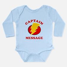 Personalized Super Hero Long Sleeve Infant Bodysui