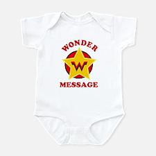Personalized Female Superhero Infant Bodysuit