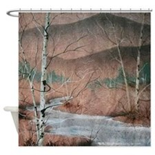 Stream in Winter Shower Curtain