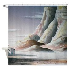 Southwestern Mountains with Pueblo Shower Curtain