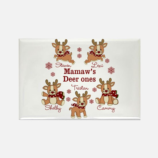 Custom deer grand kids Rectangle Magnet