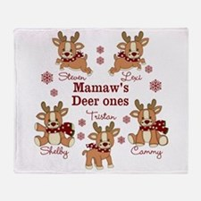 Custom deer grand kids Throw Blanket