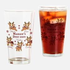 Custom deer grand kids Drinking Glass