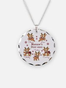 Custom deer grand kids Necklace