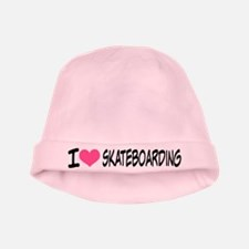 I Heart Skateboarding baby hat