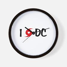 I LOVE DC Wall Clock