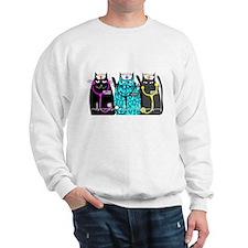 nurse cat NO BACKGROUND.PNG Sweatshirt