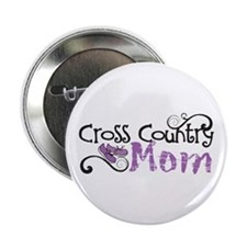 """Cross Country Mom 2.25"""" Button"""