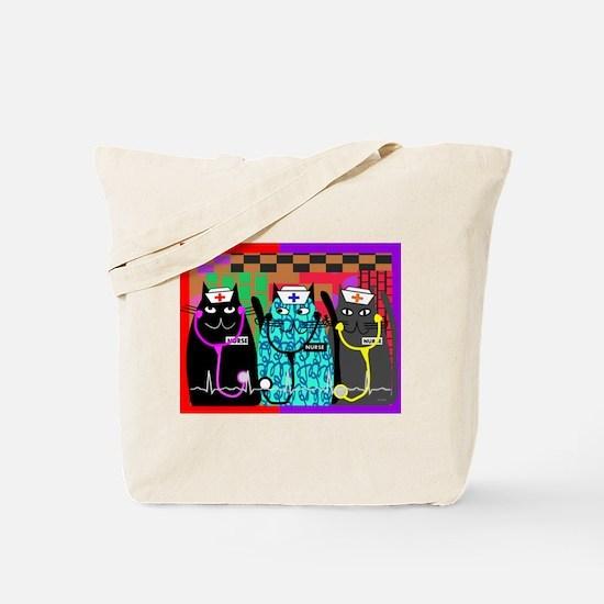 nurse cat blanket.PNG Tote Bag