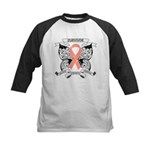 Survivor Uterine Cancer Kids Baseball Jersey